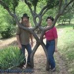 Pete, Tree person and Becky